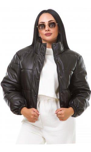 Куртка кожзам AFTF Basic M002 (Черный )