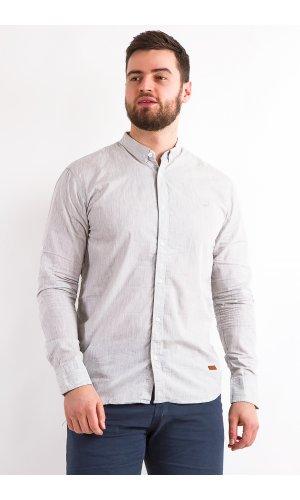 Рубашка Дл/рукав Jlab+Remix  008-5 ( Св.Серый)