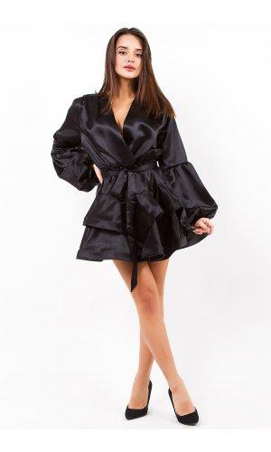 Платье + пояс Lara P7919 (Черный)