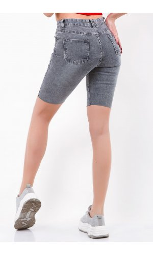Шорты джинсовые Hong zhu zi 8111 Серый