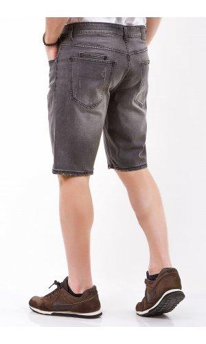 Шорты джинсовые Jlab+Remix DF032-1 Т.Серый