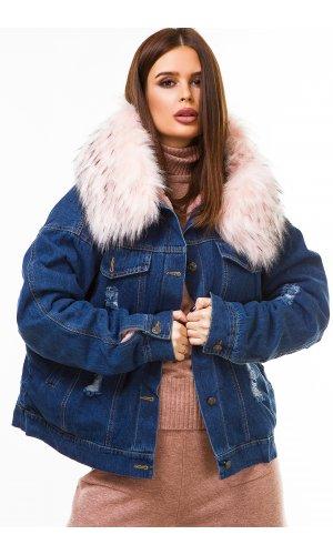 Куртка джинсовая Ruixi 1019 (Сине-Розовый)