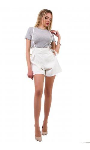 Комбинезон-шорты SSLG 10227 Белый