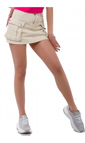 Юбка-шорты SSLG 10377 Молочный