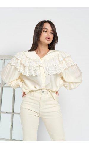 Блуза Grace Li 8919 (Молочный)