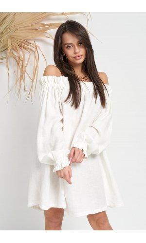 Платье длинный рукав Jlab+Remix V1998-106 (Белый)
