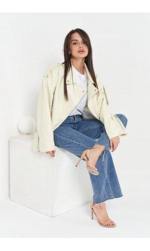 Куртка кожзам AFTF W2117 (Молочный)