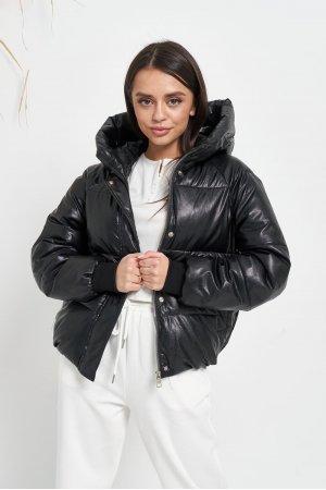 Куртка кожзам Lady Yep 2022 Черный - фото 1