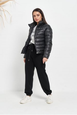 Куртка синтепон Lady Yep 2028 Черный - фото 2