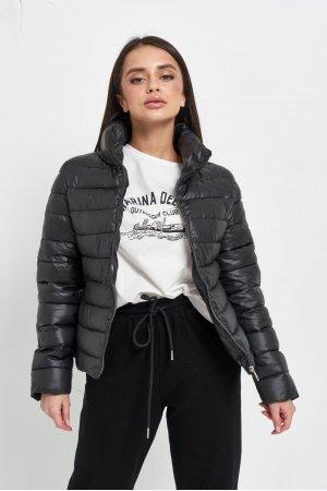 Куртка синтепон Lady Yep 2028 Черный - фото 1