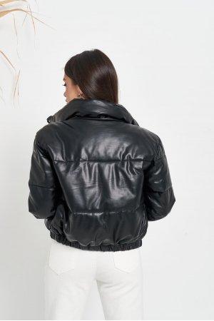 Куртка кожзам Hojziyuan 2102 Черный - фото 2