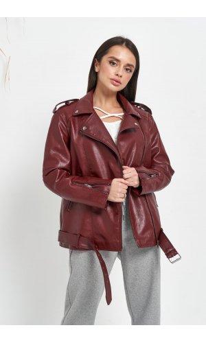Куртка кожзам AFTF W2138 (Бордовый)