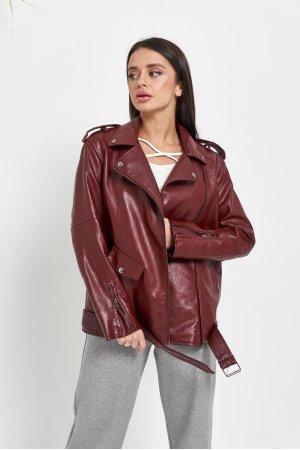 Куртка кожзам AFTF W2138 Бордовый - фото 1