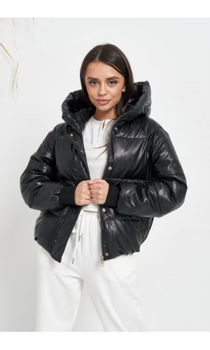 Куртка кожзам Lady Yep 2022 (Черный)