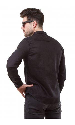 Рубашка лен X-Ray L-988 Черный