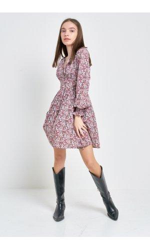 Платье Длинный рукав Kiwi 5006 Сиреневый