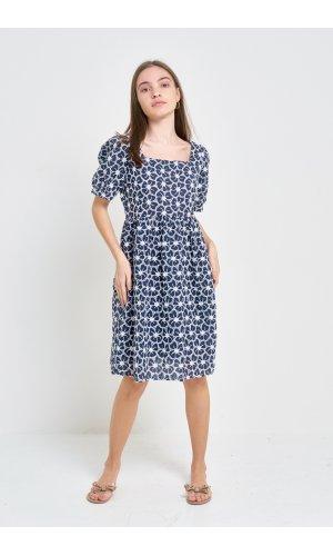 Платье кор/рукав Grace Li 8557 Синий