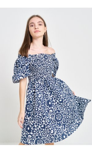 Платье кор/рукав Grace Li 8576 Синий