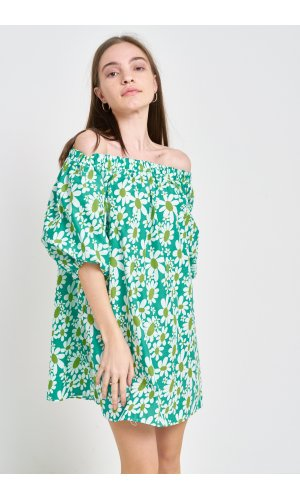 Платье кор/рукав Grace Li 8581 Зеленый
