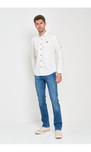 Рубашка лен дл/рукав X-Ray L213 Белый