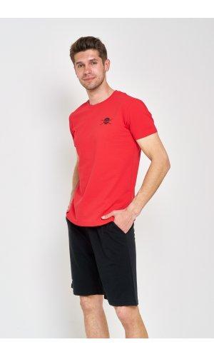 Костюм футболка + шорты Sold Out MS-09 Черно-красный