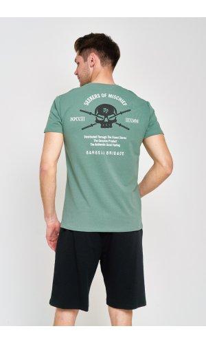 Костюм футболка + шорты Sold Out MS-09 Черно-оливковый