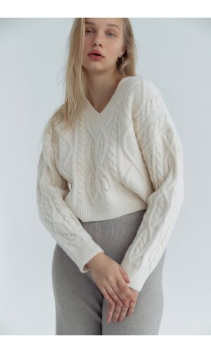 Пуловер June 803102 (Белый)