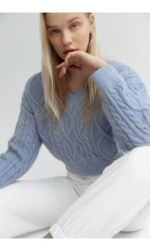 Пуловер June 803102 (Голубой)