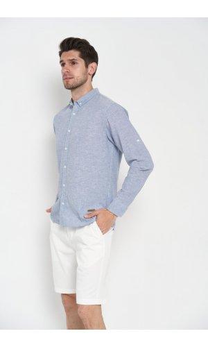 Рубашка лен длинный рукав Dannar Honnor 1838-11 Серый