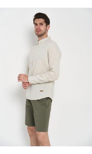 Рубашка лен длинный рукав Dannar Honnor 1845-1 Бежевый