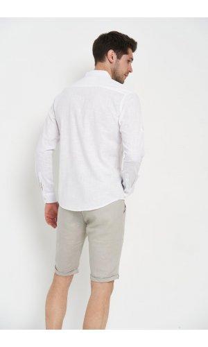 Рубашка длинный рукав Sold Out SH-207 Белый