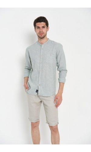 Рубашка лен длинный рукав Dannar Honnor 1804-03 Хаки