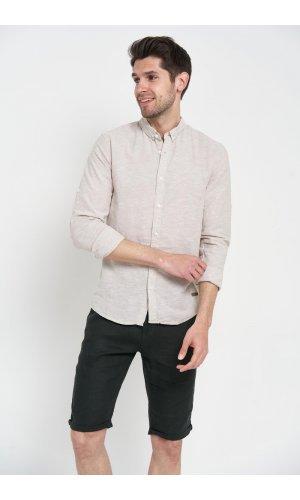 Рубашка лен длинный рукав Dannar Honnor 1838-01 Бежевый
