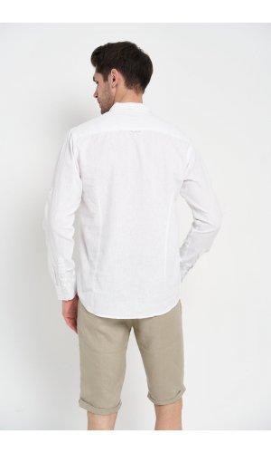 Рубашка лен длинный рукав Dannar Honnor 1845-3 Белый