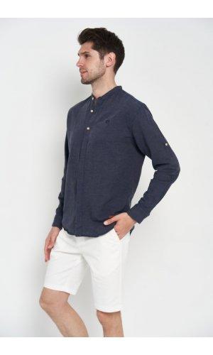 Рубашка лен длинный рукав Dannar Honnor 9130-05 Черный