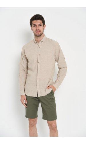 Рубашка лен длинный рукав Dannar Honnor 9133-12 Хаки