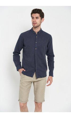Рубашка лен длинный рукав Dannar Honnor 9133-15 Черный