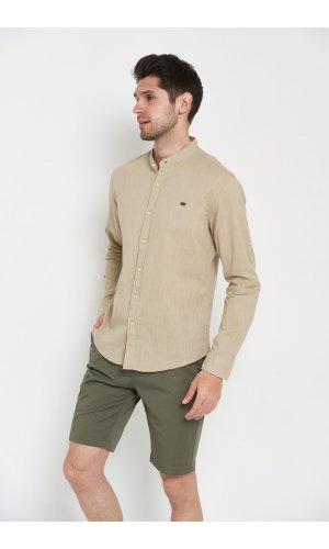 Рубашка длинный рукав Sold Out SH-207 Хаки