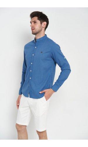 Рубашка длинный рукав Sold Out SH-207 Синий