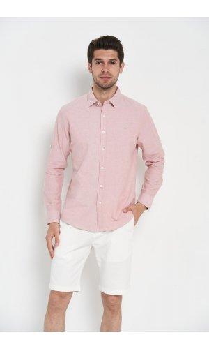 Рубашка длинный рукав Sold Out SH-209 Светло-розовый