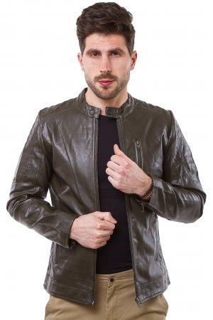 Куртка кожзам GRC-Man 2671 Коричневый - фото 2