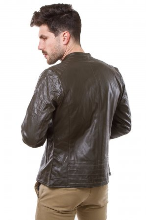Куртка кожзам GRC-Man 2671 Коричневый - фото 1