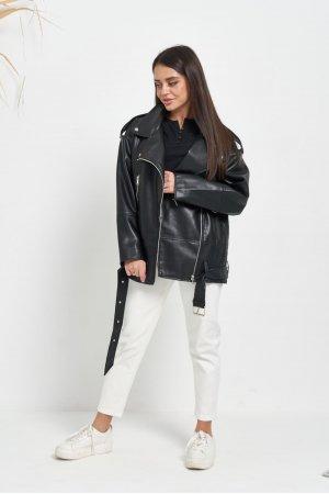 Куртка кожзам AFTF W2117 Черный - фото 2