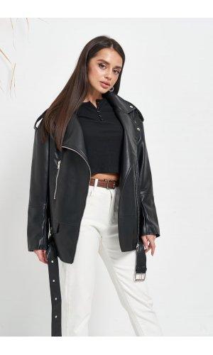 Куртка кожзам AFTF W2117 (Черный)