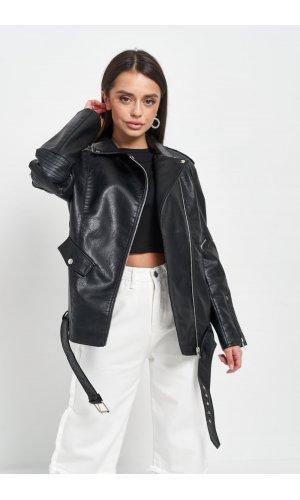 Куртка кожзам AFTF W2138 (Черный)