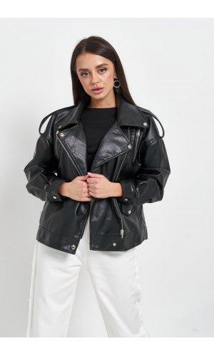 Куртка кожзам AFTF W2153 (Черный)
