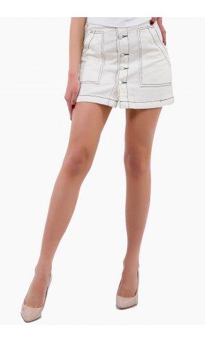Юбка джинсовая Remix W 6133-3 Белый