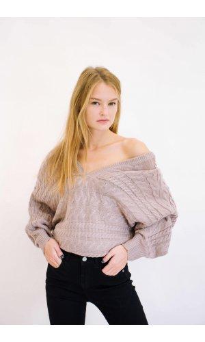Пуловер Remix W 7791 (Бежевый)