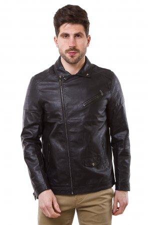 Куртка кожзам Puduoli 7869 Черный - фото 2