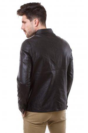 Куртка кожзам Puduoli 7869 Черный - фото 1